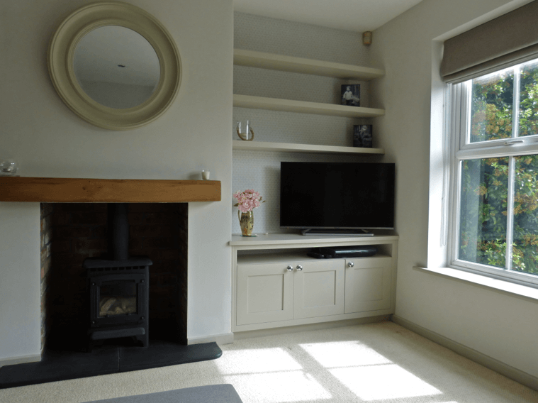 Bespoke Cabinetry Painted Little Greene Slaked Lime Mid