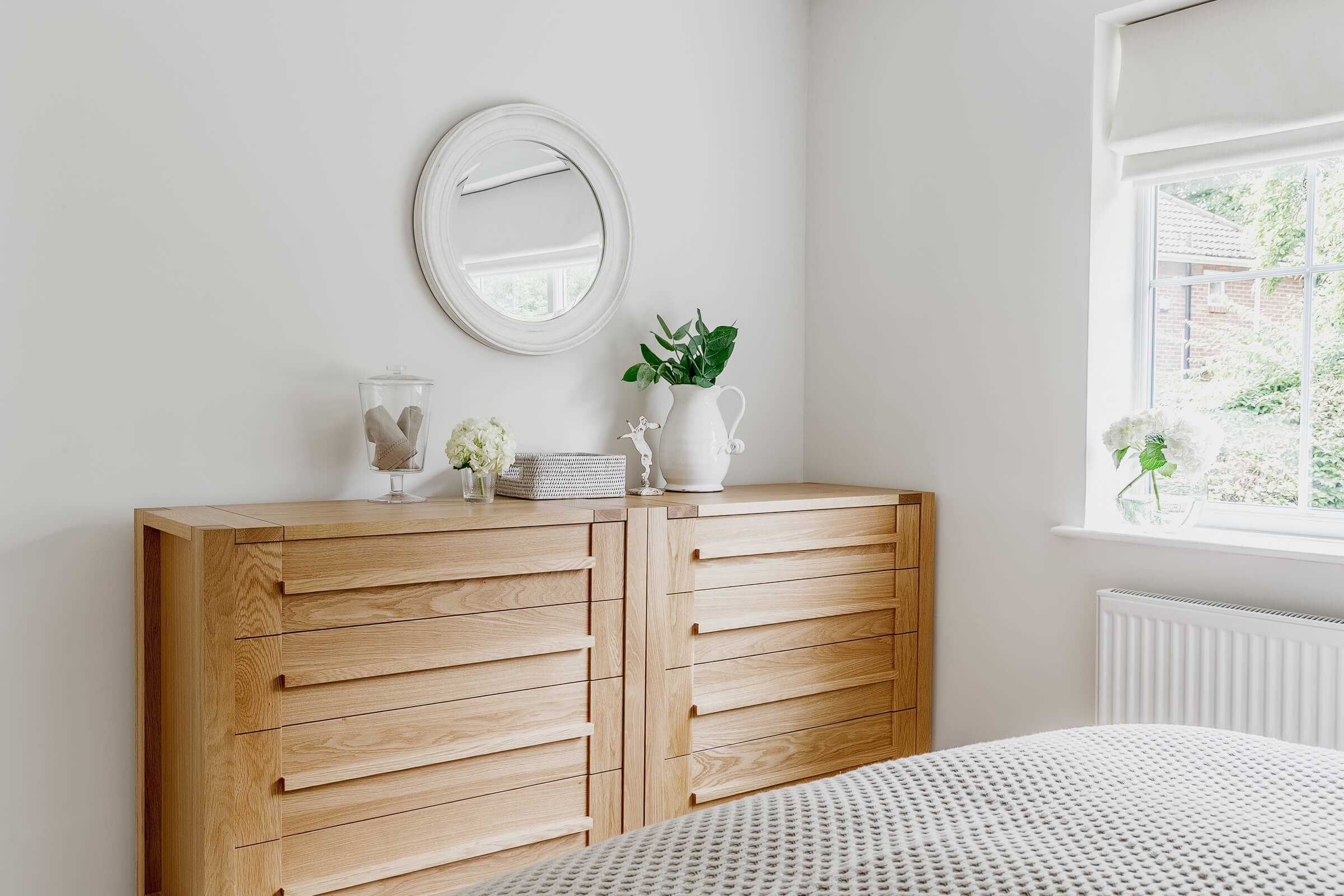 Master bdroom with chest of drawers