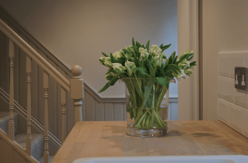 Spring green tulips at a SGH kitchen project