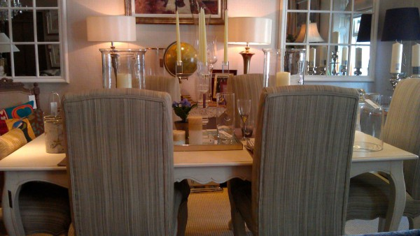 Dining table and layout, from James Brindley