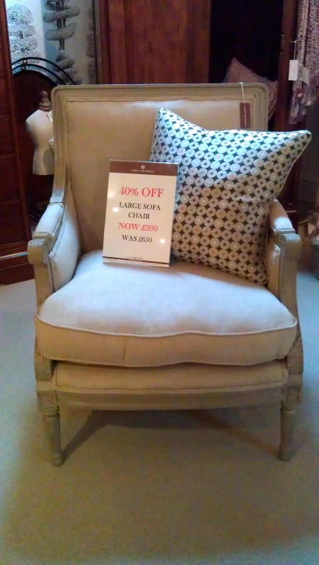 Large Sofa Chair, in sale! From James Brindley