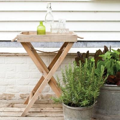 Cox & Cox oak butlers tray