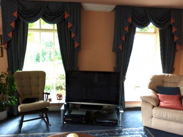 The room before, full length Georgian windows