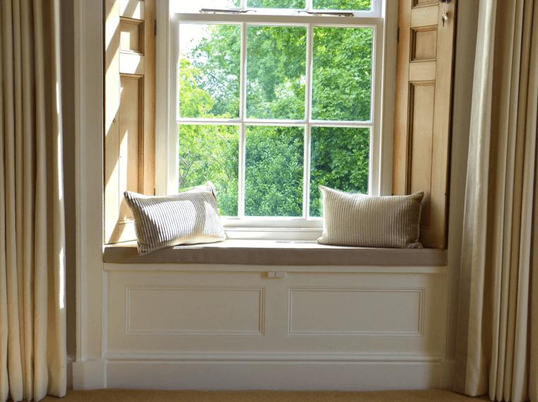 Pleasing Window Seat In A Georgian House Collingham Sarah Gordon Home Machost Co Dining Chair Design Ideas Machostcouk