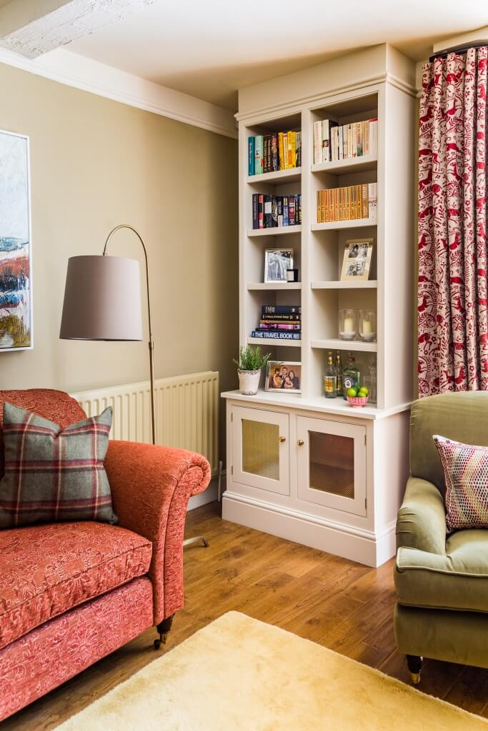 Bookcase in sitting room